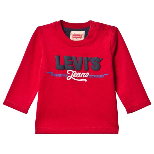 Levis Kids Long Sleeve Tee Karl Red Red