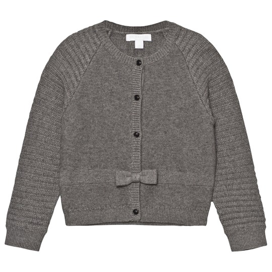 Burberry Cashmere Cotton Cardigan Mid Grey Melange Mid Grey Melange