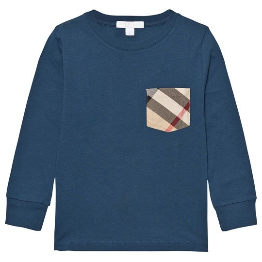 Burberry Cotton Jersey Top Mineral Blue Mineral Blue