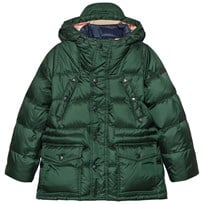 Burberry Down-Filled Hooded Puffer Coat Deep Bottle Green Deep Bottle Green