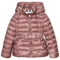 Burberry Bow Detail Puffer Jacket Antique Rose