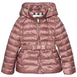 Burberry Bow Detail Puffer Jacka Antique Rose