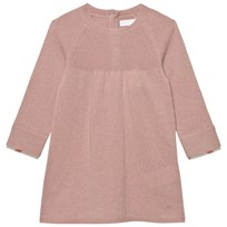 Burberry Check Cuff Knitted Cashmere Dress Pale Ash Rose Pale Ash Rose