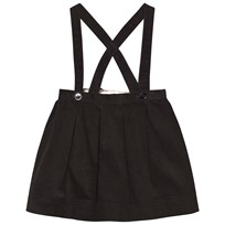 Burberry Cotton Corduroy Skirt with Straps Black Black