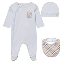 Burberry Baby Gift Set Ice Blue Pinkki