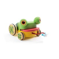 Djeco CroaFroggy Pull Along Toy Multi