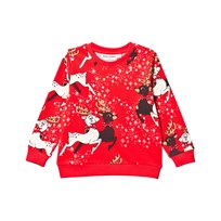 Mini Rodini Reindeer Sweatshirt Red Red