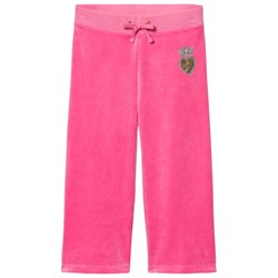 Juicy Couture Hot Pink Velour Scotty Dog, Heart and Crown Track Pants