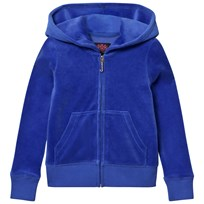Juicy Couture Royal Blue Laurel Sequin and Glitter Logo Hoody LAZULI