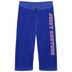 Juicy Couture Royal Blue Laurel Sequin and Glitter Logo Track Pants