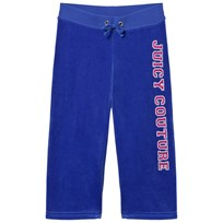 Juicy Couture Royal Blue Laurel Sequin and Glitter Logo Track Pants LAZULI