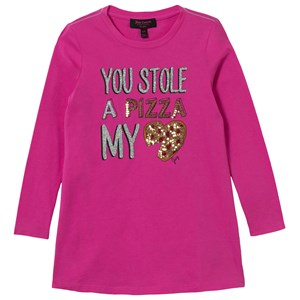Image of Juicy Couture Pink Sequin Pizza Tee Dress 12 years (2743776807)