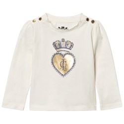 Juicy Couture Cream Scotty Dog and Heart Glitter Tee