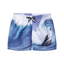 Molo Niko Swimming Shorts Surfer Meets Whale Surfer meets whale