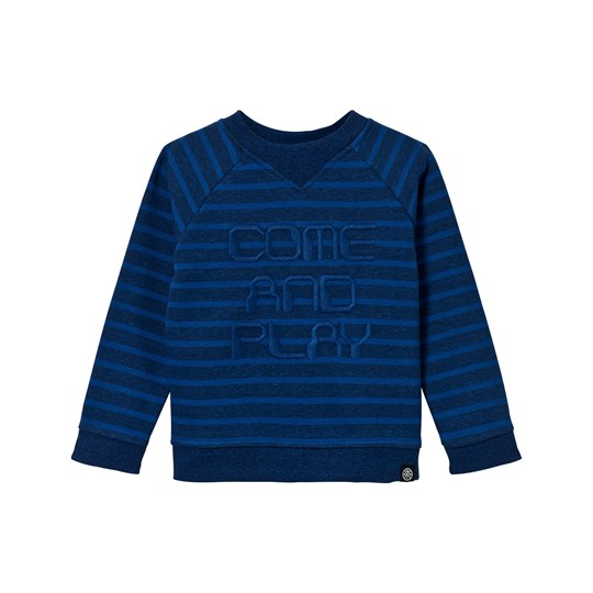 Molo Delroy Sweater Blue Melange Stripe Blue Melange Stripe