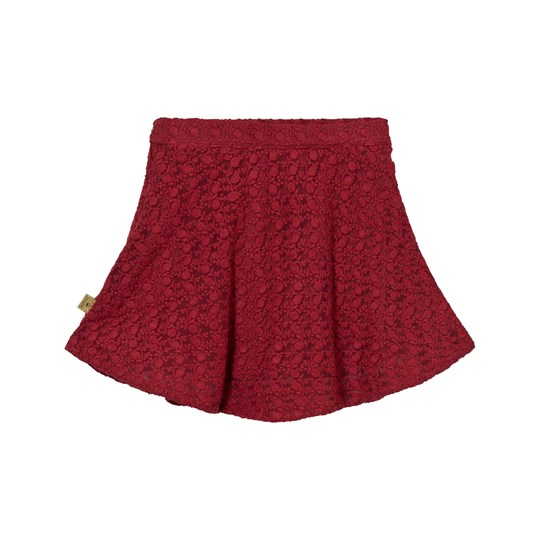 Hust&Claire Anglaise Skirt Red Red dahlia