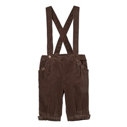 Hust&Claire Corduroy Trousers with Suspenders Falcon