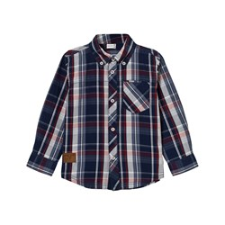 Hust&Claire Plaid Shirt Night Blue