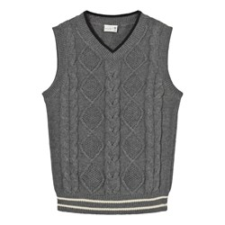 Hust&Claire Vest Cable Knit Grey