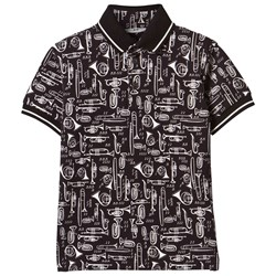 Dolce & Gabbana Black All Over Musical Instrument Tee