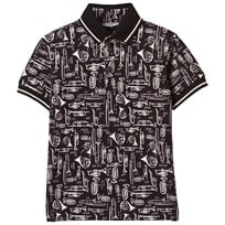 Dolce & Gabbana Black All Over Musical Instrument Tee HN607