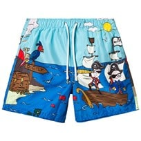 Dolce & Gabbana Pirate Cartoon Print Swim Shorts HB625