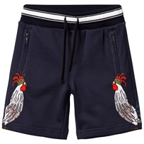 Dolce & Gabbana Navy Cockerel Print Sweat Shorts HB694