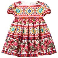 Dolce & Gabbana Multi Majolica Print Cotton Dress and Knickers HW680