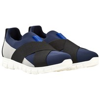 Dolce & Gabbana Blue and Grey Elasticated Trainers 8S555