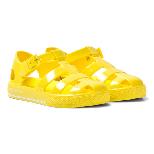 Dolce & Gabbana Yellow Branded Jelly Shoes 80210