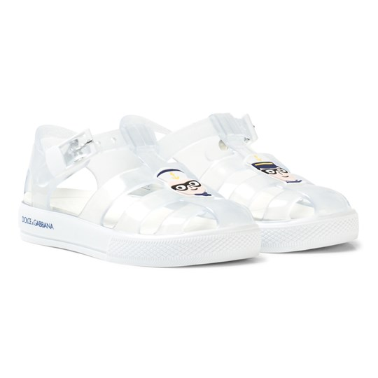 Dolce & Gabbana White and Transparent Dolce & Gabbana Jelly Shoes 81906