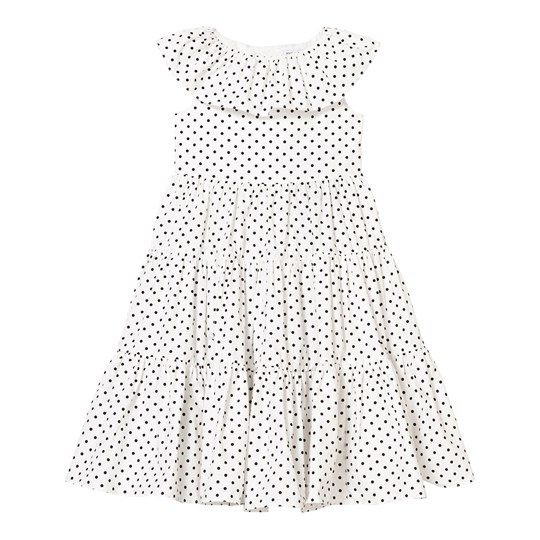 Dolce & Gabbana White and Black Spot Tiered Dress HW52N