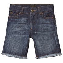 Dolce & Gabbana Mid Wash Denim Shorts with Frayed Edge B0339