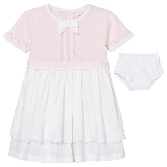 Emile et Rose Kamelia Pale Pink and White Dress with Knickers Pink