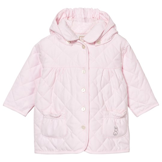 Emile et Rose Pale Pink Kim Quilted Hooded Jacket Pink