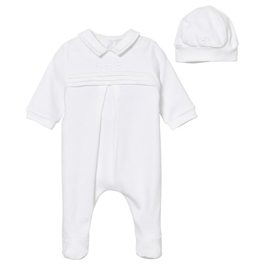 Emile et Rose White Keiran Footed Baby Body White