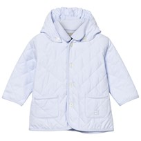 Emile et Rose Pale Blue Curtis Quilted Hooded Jacket Blue