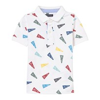 Tommy Hilfiger White Flag Printed Polo 100