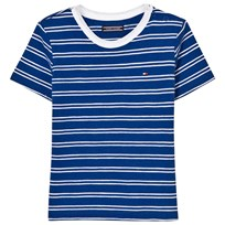 Tommy Hilfiger Navy and Blue Stripe Tee 497