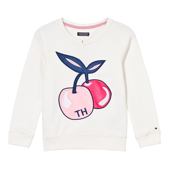 Tommy Hilfiger Off White Cherry Print Sweater 118