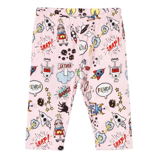 Fendi Pink Monster Print Leggings F0B8Y