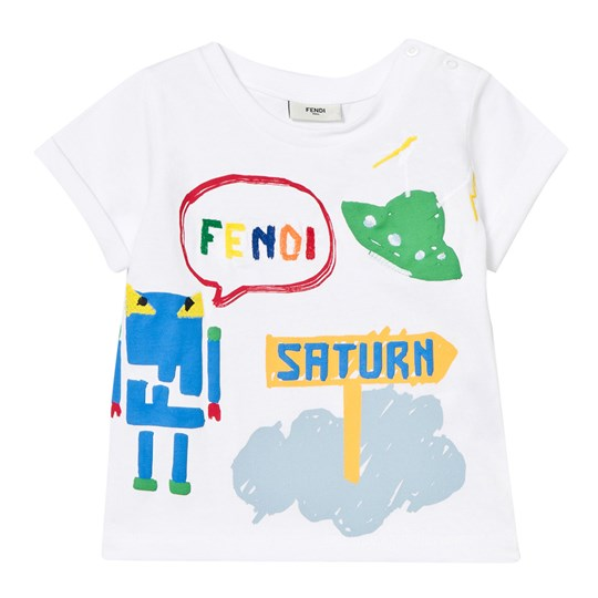 Fendi White Space Print Tee F0QA0