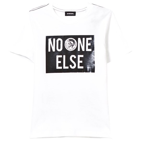 Diesel White No One Else Print Tee K100