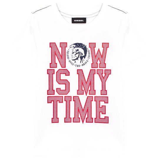 Diesel White Now Is The Time Tee K100