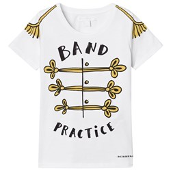 Burberry Band Practice Motif Cotton T-Shirt White