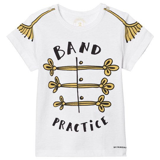 Burberry Band Practice Motif Cotton T-Shirt White White