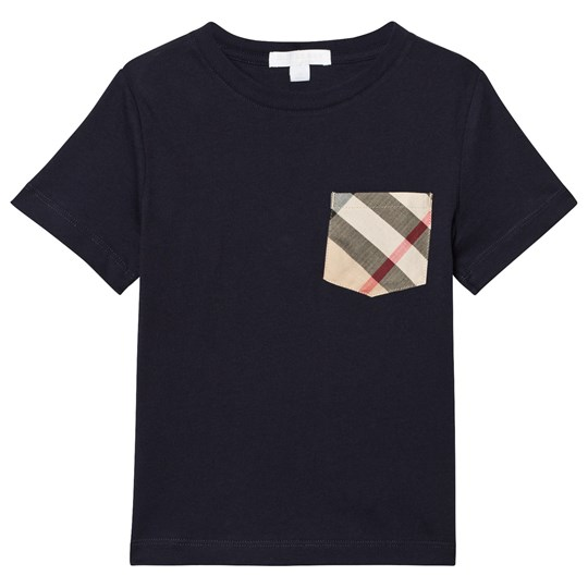 Burberry Check Pocket T-Shirt Navy True Navy
