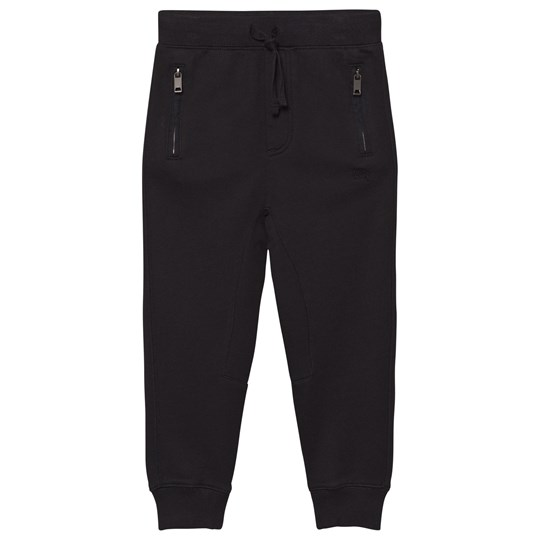 Burberry Black Branded Sweat Pants Black