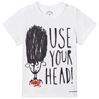 Burberry Use Your Head Graphic Cotton T-Shirt Vit White