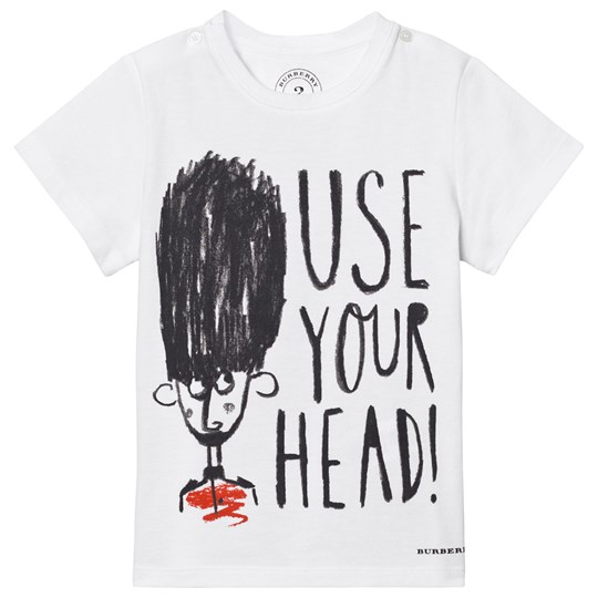Burberry Use Your Head Graphic Cotton T-Shirt White White
